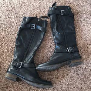 LIKE NEW! Steve Madden Sonnya black leather boots